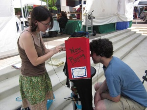Performing at the Fenton Street Market in Silver Spring.