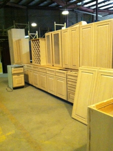 Salvaged cabinets