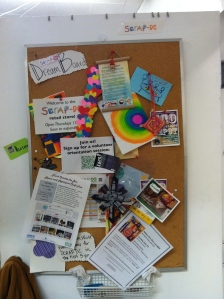 Bulletin Board at SCRAP