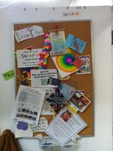 Bulletin Board at SCRAP