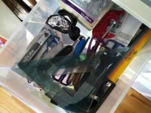Neat hardware drawer
