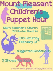 Puppet hour poster