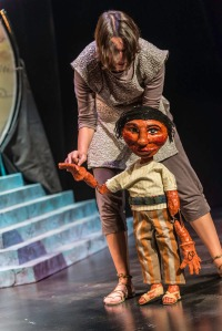 The Disobedient Child puppet, operated by Cecilia Cackley.