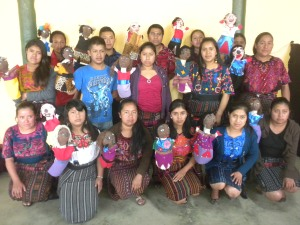The class in Chichicastenango, with their puppets.